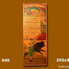Carteles Toros: 1926 CARTEL PLAZA TOROS DE EL PUERTO STA MARIA 4 JULIO 1926 252X97 CTM. Lote 132584234