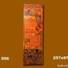 Carteles Toros: 1898 CARTEL PLAZA TOROS DE GUADALAJARA 15 OCTUBRE 1898 MED 257X97 CTM. Lote 132584258