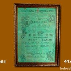 Carteles Toros: 1900 CARTEL PLAZA TOROS DE GRAZALEMA 24 AL 26 AGOSTO 1900 41X28. Lote 132584270