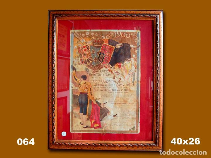 1906 CARTEL PLAZA TOROS DE MADRID 2 JUNIO 1906 MED 40X26 CTM (Coleccionismo - Carteles Gran Formato - Carteles Toros)