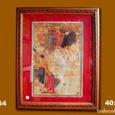 Carteles Toros: 1906 CARTEL PLAZA TOROS DE MADRID 2 JUNIO 1906 MED 40X26 CTM. Lote 132584278
