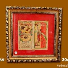Carteles Toros: 1911 CARTEL PLAZA TOROS DE VALLADOLID 17 AL 24 SEP 1911 MED 20X20 CTM. Lote 132584286