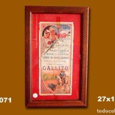 Carteles Toros: 1917 CARTEL PLAZA TOROS DE BARCELONA 3 JUNIO 1917 MED 27X13 CTM. Lote 132584290