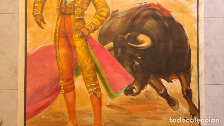 Carteles Toros: PRECIOSO CARTEL DE TOROS PASE TORERO - ILUSTRADOR J. REUS. AÑOS 50. LITOGRAFICO IMPRENTA ORTEGA - Foto 3 - 132585330
