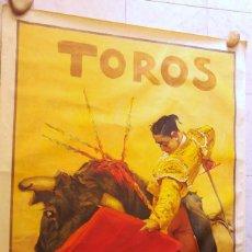 Carteles Toros: PRECIOSO CARTEL DE TOROS PASE TORERO - ILUSTRADOR RUANO LLOPIS. AÑOS 50. LITOGRAFICO . Lote 132585722