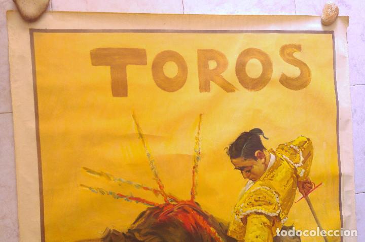 Carteles Toros: PRECIOSO CARTEL DE TOROS PASE TORERO - ILUSTRADOR RUANO LLOPIS. AÑOS 50. LITOGRAFICO - Foto 2 - 132585722