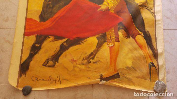 Carteles Toros: PRECIOSO CARTEL DE TOROS PASE TORERO - ILUSTRADOR RUANO LLOPIS. AÑOS 50. LITOGRAFICO - Foto 4 - 132585722