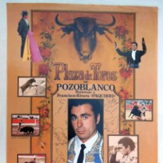 Affiches Tauromachie: CLUB TAURINO LOGROÑES. 1985. HOMENAJE A FRANCISCO RIVERA PAQUIRRI. Lote 133021598