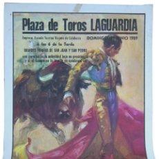 Affissi Tauromachia: PLAZA DE TOROS LAGUARDIA, JUNIO 1989. ESCUELA TAURINA RIOJANA DE CALAHORRA (EMPRESA) BALLESTAR (DIB). Lote 133127434
