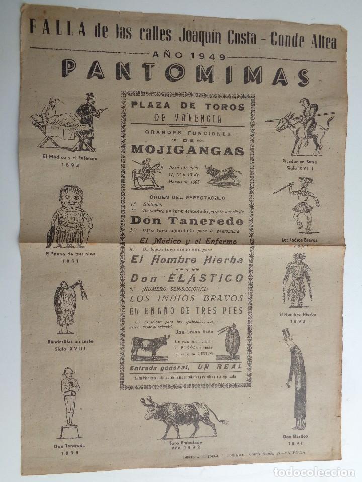 Carteles Toros: AUCA MUERTE MANOLETE .REVERSO FALLAS JOAQUIN COSTA CONDE DE ALTEA.T-236 - Foto 2 - 133447546