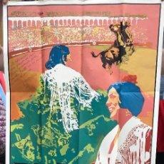 Carteles Toros: GRAN CARTEL PLAZA DE TOROS DE SEVILLA - DOMINGO DE RESURRECCIÓN Y FERIA DE ABRIL 1975. Lote 133745170