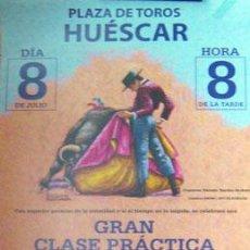 Carteles Toros: CARTEL PLAZA DE TOROS HUESCAR GRANADA 31X64 CM CON RESTOS DE FIXO EN LOS BORDES. SIN DOBLAR. Lote 133854622