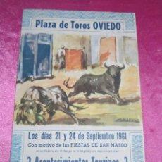 Carteles Toros: CARTEL DE TOROS FIESTAS SAN MATEO CURRO ROMERO AÑO 1961 . Lote 133982206