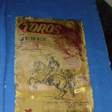 Carteles Toros: CARTEL DE TOROS REALIZADO SOBRE SEDA CON PUBLICIDAD DE TIO PEPE - JEREZ - FERIA SEPTIEMBRE 1974. Lote 278324163