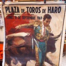 Carteles Toros: CARTEL TOROS, HARO, 1969.. Lote 134318370