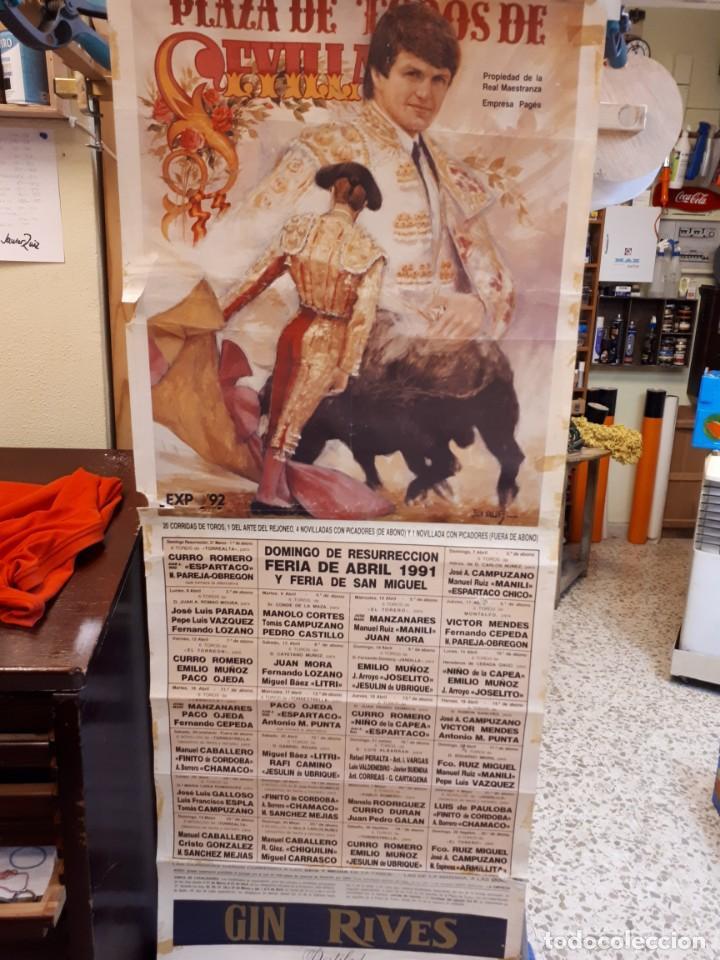 CARTEL TOROS, SEVILLA, 1991 (Coleccionismo - Carteles Gran Formato - Carteles Toros)