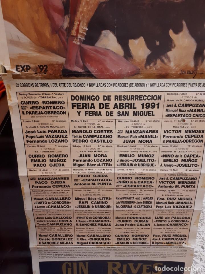 Carteles Toros: Cartel toros, SEVILLA, 1991 - Foto 2 - 134319354