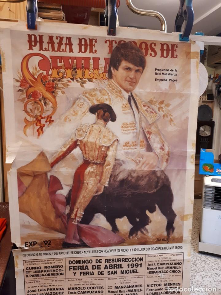 Carteles Toros: Cartel toros, SEVILLA, 1991 - Foto 3 - 134319354