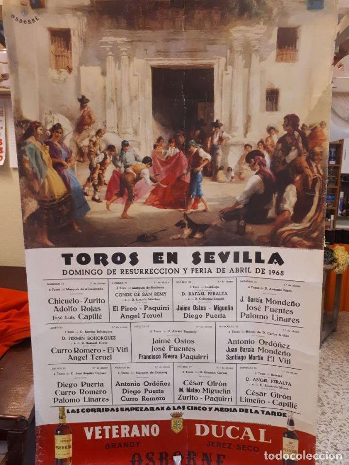 CARTEL TOROS SEVILLA 1968, OSBORNE (Coleccionismo - Carteles Gran Formato - Carteles Toros)