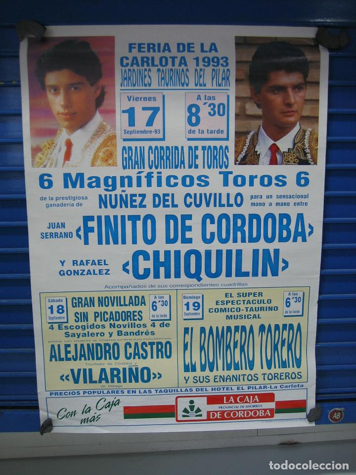 CARTEL PLAZA DE TOROS DE LA CARLOTA 1993. M 70X50 CM (Coleccionismo - Carteles Gran Formato - Carteles Toros)
