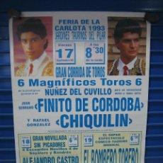 Carteles Toros: CARTEL PLAZA DE TOROS DE LA CARLOTA 1993. M 70X50 CM. Lote 134825926