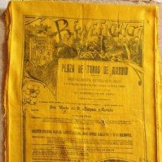 Carteles Toros: CARTEL DE TOROS DE MADRID. BENEFICENCIA. 25 DE ABRIL DE 1915. PASTOR, GALLO, GALLITO Y JUAN BELMONTE. Lote 135769046