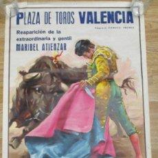 Carteles Toros: CARTEL PLAZA DE TOROS VALENCIA,CROS ESTREMS,ABRIL 1980,EL RUILO, EL MELENAS, MARIBEL ATIENZAR. Lote 136156798