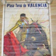 Carteles Toros: CARTEL PLAZA DE TOROS VALENCIA,CROS ESTREMS,AGOSTO 1972,VICENTE PUNZON,CARNICERITO DE UBEDA,JESUS.... Lote 136157134