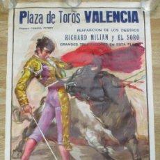 Carteles Toros: CARTEL PLAZA DE TOROS VALENCIA,CROS ESTREMS,MAYO 1980,RICHARD MILIAN,EL SORO, PEPIN JIMENEZ. Lote 136157258