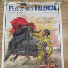 Carteles Toros: CARTEL PLAZA DE TOROS VALENCIA,CROS ESTREMS,SEPT. 1978,CURRO VALENCIA,LUCIANO NUÑEZ,AGUILAR GRANADA. Lote 136157418