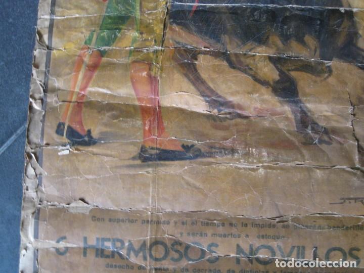 Carteles Toros: antiguo cartel toros entelado . doble cara plaza toros monumental joselito clavel Valencia 1/ 0,5 m - Foto 10 - 137334382