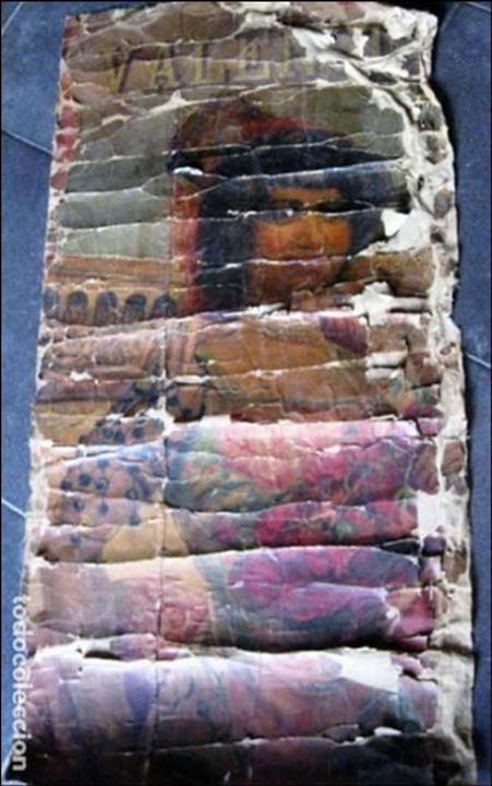 ANTIGUO CARTEL TOROS ENTELADO . DOBLE CARA PLAZA TOROS MONUMENTAL JOSELITO CLAVEL VALENCIA 1/ 0,5 M (Coleccionismo - Carteles Gran Formato - Carteles Toros)