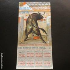 Carteles Toros: CARTEL: PLAZA DE TOROS DE VISTA-ALEGRE BILBAO 1972. Lote 137431330
