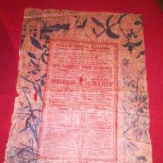 Carteles Toros: EXCEPCIONAL CARTEL PLAZA DE TOROS DE TARRAGONA ABRIL 1896. Lote 138714062