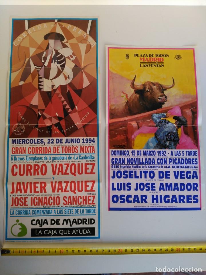 LOTE DE 2 CARTELES DE TOROS, MADRID, 1993 Y 1994 (Coleccionismo - Carteles Gran Formato - Carteles Toros)