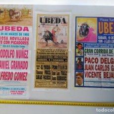Carteles Toros: LOTE DE 3 CARTELES DE TOROS, ÚBEDA, AÑOS 90. Lote 138871402