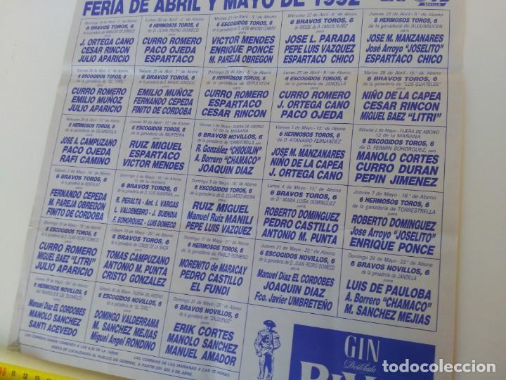 Carteles Toros: Cartel de toros, Sevilla, Feria de Abril de 1992 - Foto 2 - 138871670