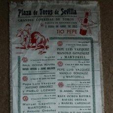 Carteles Toros: CARTEL DE TOROS DE SEVILLA. PASCUA DE RESURRECCIÓN Y FERIA DE ABRIL 1954. ANTONIO ORDÓÑEZ, LITRI. Lote 139291342