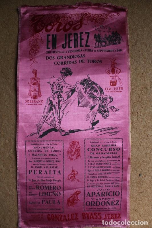 CARTEL DE TOROS DE JEREZ. FIESTA DE LA VENDIMIA Y FERIA DE SEPTIEMBRE DE 1960.RAFAEL DE PAULA (Coleccionismo - Carteles Gran Formato - Carteles Toros)