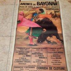 Carteles Toros: CARTEL TOROS, ARENAS DE BAYONNE, AÑO 88, ORTEGA CANO, NIMEÑO LL, MORENITO DE MARACAY. Lote 228851040