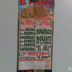 Carteles Toros: CARTEL DE TOROS DEL PUERTO TEMPORADA DE VERANO DEL AÑO 2000. Lote 229394885