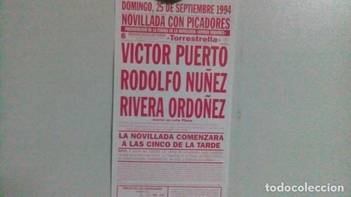 Carteles Toros: Cartel de toros de las ventas del año 1994, novillada - Foto 2 - 140910406