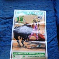 Carteles Toros: TOROS EN VILLAPALACIOS 1993. Lote 142676230