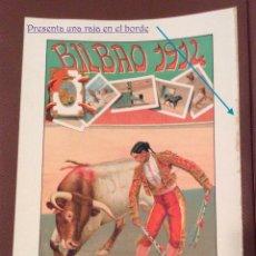 Carteles Toros: BILBAO 1912 CARTEL DE TOROS 40X21 CM IDEAL COLECCIONISTAS. Lote 142777182