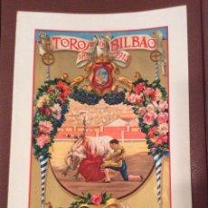 Carteles Toros: BILBAO 1915 CARTEL DE TOROS 40X23,5 CM IDEAL COLECCIONISTAS. Lote 142777726