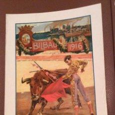 Carteles Toros: BILBAO 1916 CARTEL DE TOROS 36X23 CM ,IDEAL COLECCIONISTAS. Lote 142778766