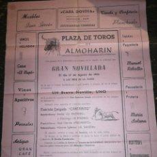 Carteles Toros: CARTEL TOROS ALMOHARIN CÁCERES. Lote 144264176