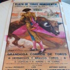 Carteles Toros: LOTE DE CARTELES DE TOROS 4. MONUMENTAL DE BARCELONA. AÑOS 1970.. Lote 144720866
