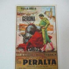 Carteles Toros: CARTEL DE TOROS - PLAZA DE TOROS GERONA, GIRONA - JULIO 1970 - 27 CM X 13,5 CM. Lote 145464782