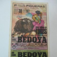 Carteles Toros: CARTEL DE TOROS - PLAZA DE TOROS FIGUERES - JULIO 1972 - 24 CM X 12,5 CM. Lote 145465230